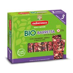 Noberasco - Bio Barretta con Cranberry, Mirtilli e Semi di Chia 3 x 25 g