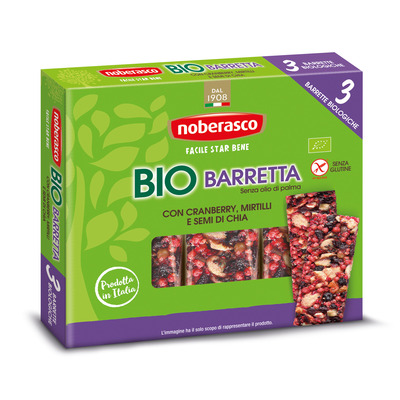 Bio Barretta con Cranberry, Mirtilli e Semi di Chia 3 x 25 g