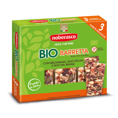 Bio Barretta con Melograno, Noci Pecan e Noci del Brasile 3 x 25 g