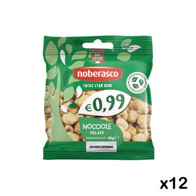 0,99 Nocciole Pelate 40g x 12